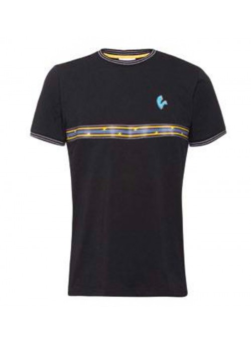 T-SHIRT MAN STRIPES BLACK L