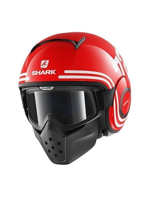 CASQUE SHARK RAW 72 ROUGE MEDIUM