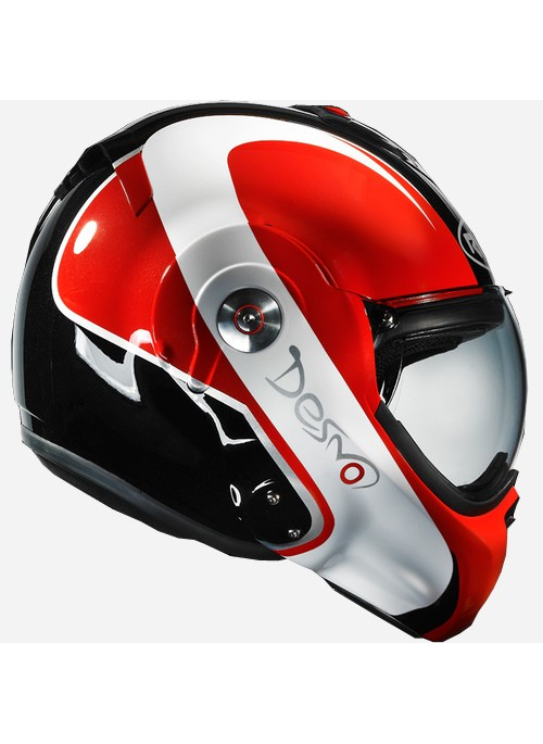 CASQUE ROOF DESMO FLASH NOIR ROUGE L