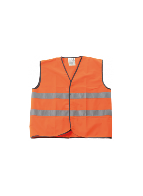 GILET SECURITE ORANGE L-XL